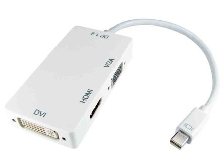 Female Mini DisplayPort to Male DVI / VGA