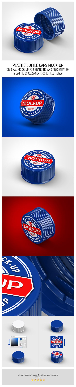 Plastic Bottle Caps MockUp