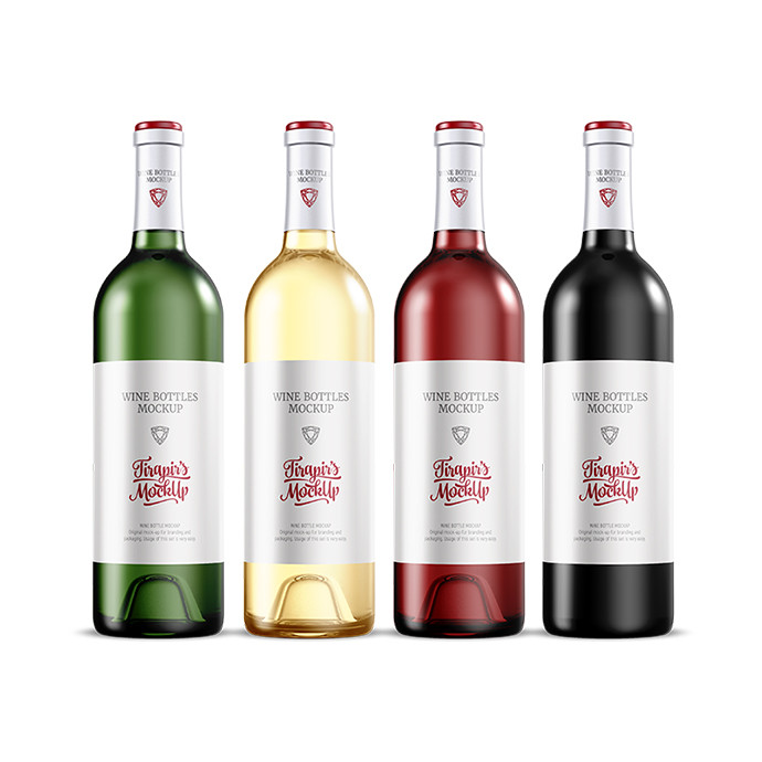 Wine Bottles Mockup Set