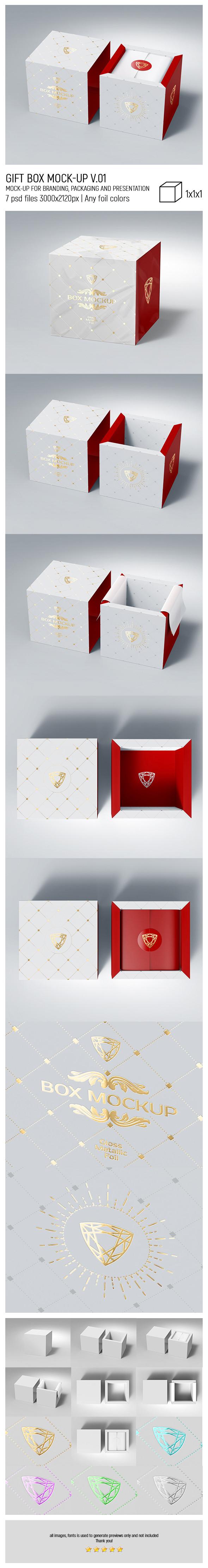 Gift Box MockUp v.01