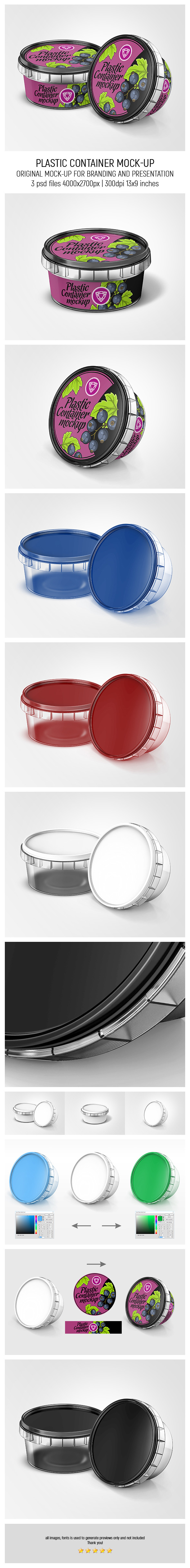 Plastic Container Mock-up
