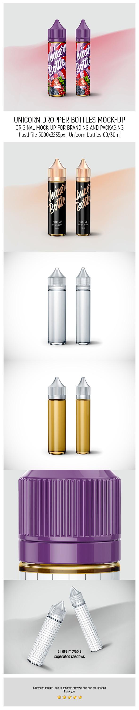 Unicorn Dropper Bottles 60ml-30ml MockUp