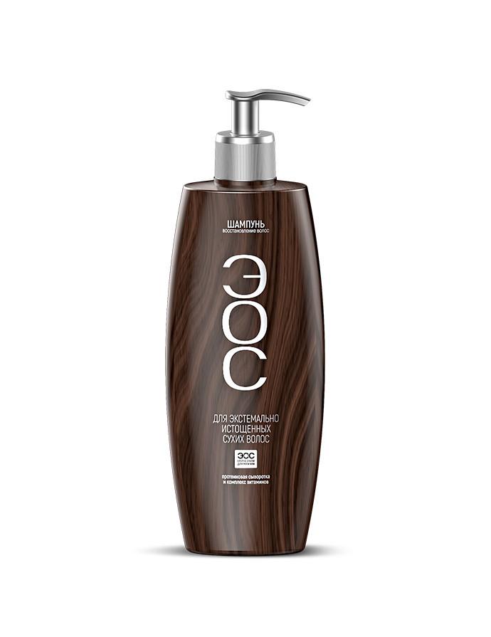 Дизайн упаковки шампуней «ЭОС»