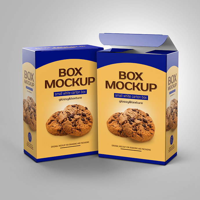 Box MockUp Glossy and Texture