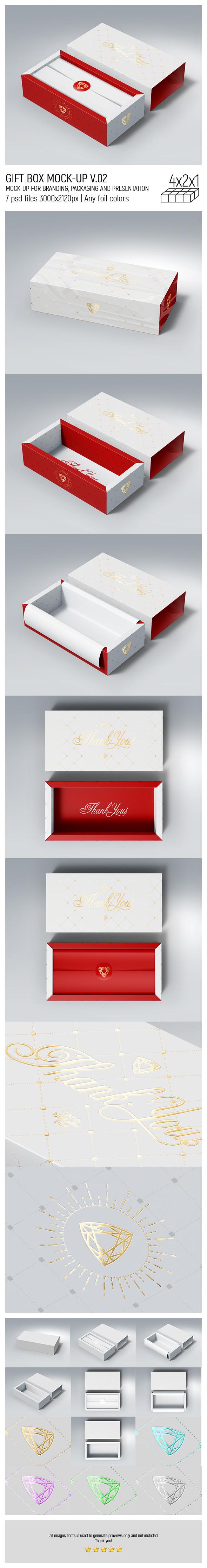 Gift Box MockUp v.02