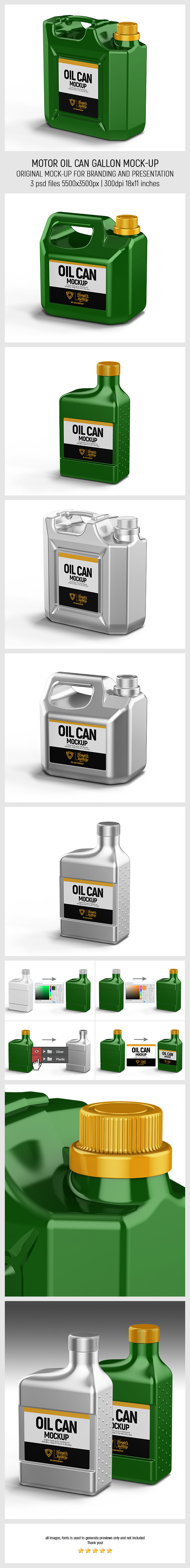 Motor Oil Can Gallon Mockup