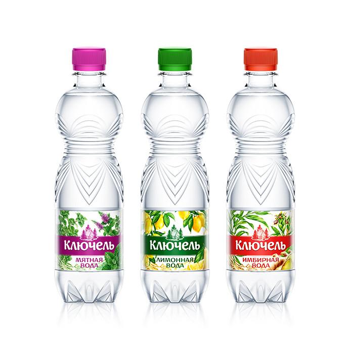 Природная вода «Ключель» со вкусом мяты, лимона, имбиря.