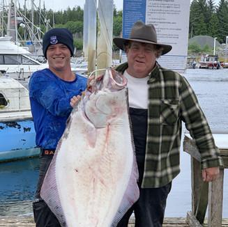 80lb. halibut caught in Coffman Cove