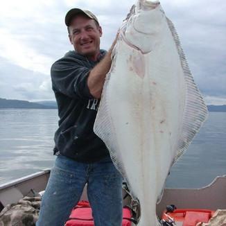 85lb. halibut caught in Coffman Cove