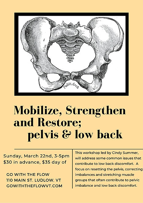 Mobilize, Strengthen and Restore; pelvis
