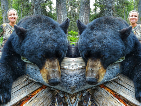 GIRL SHOOTS RECORD BEAR WITH A BOW!
