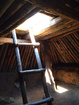 Fremont Indian Pit House Ladder Happy Trails Adventure