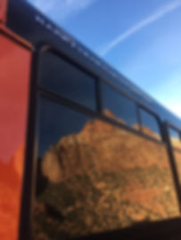 Orange bus reflection.JPG