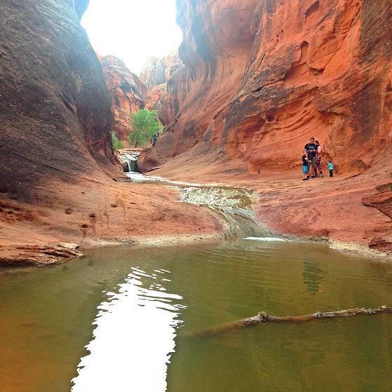 Family at Red Cliffs State Park Happy Trails Adventure