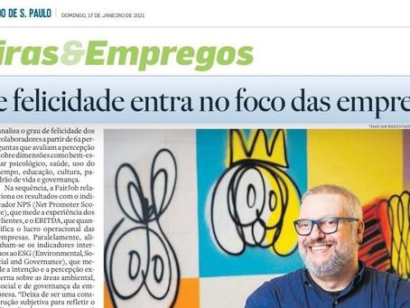 ESTADÃO - Indice de felicidade entra no foco das empresas