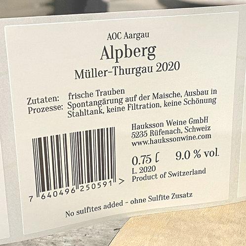 Müller-Thurgau Alpberg AOC Aargau 2020, 6er Karton, CHF 19.50 pro Flasche