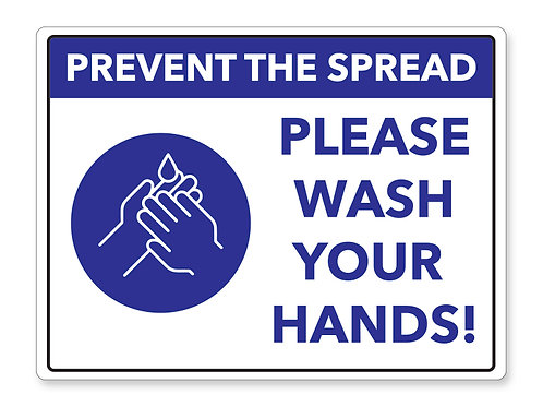 Wash Your Hands Sign 03