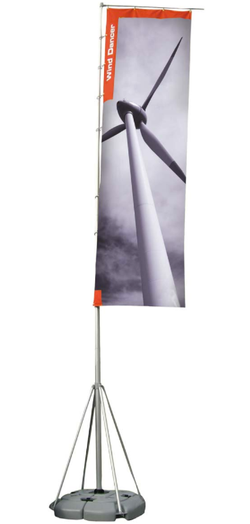 PORTABLE FLAG AND STAND