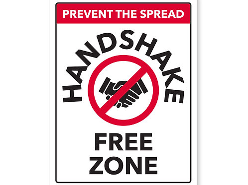 Handshake Free Zone Sign 02