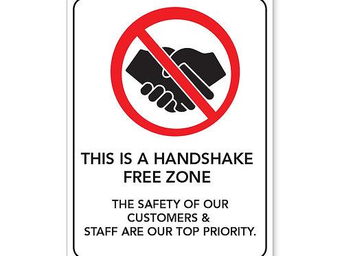 Handshake Free Zone Sign