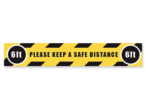 Safe Distance Strip Decal
