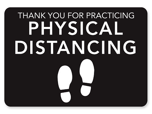 Thank you, Physical Distance - Decal