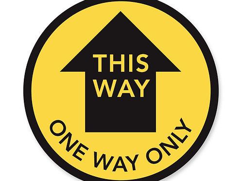 One Way Floor Decal