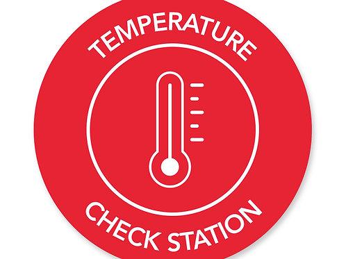 Temperature Check Floor Decals