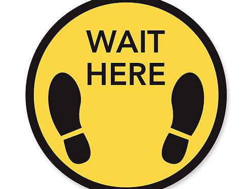 Wait Here Floor Decal