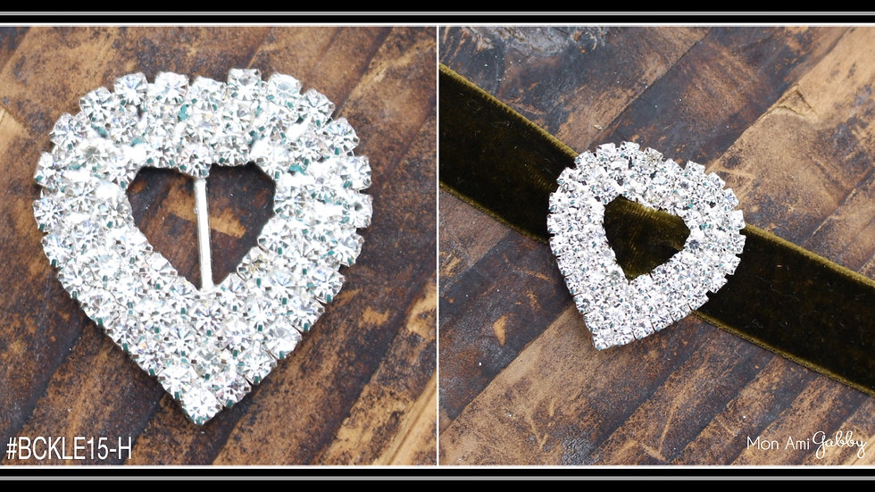 Rhinestone Buckle-Heart