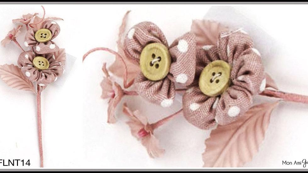 Burlap Linen Double Flower