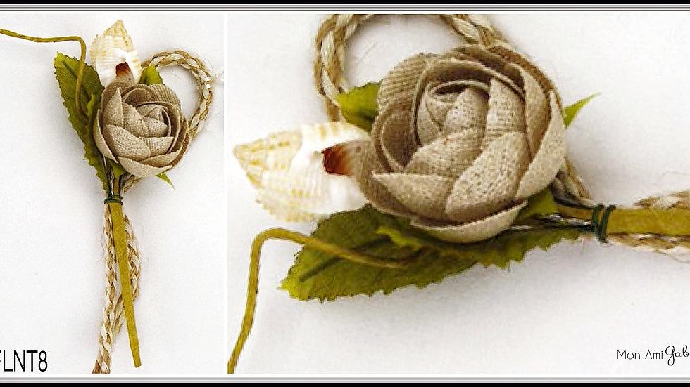Burlap Linen Shell Twig Sray