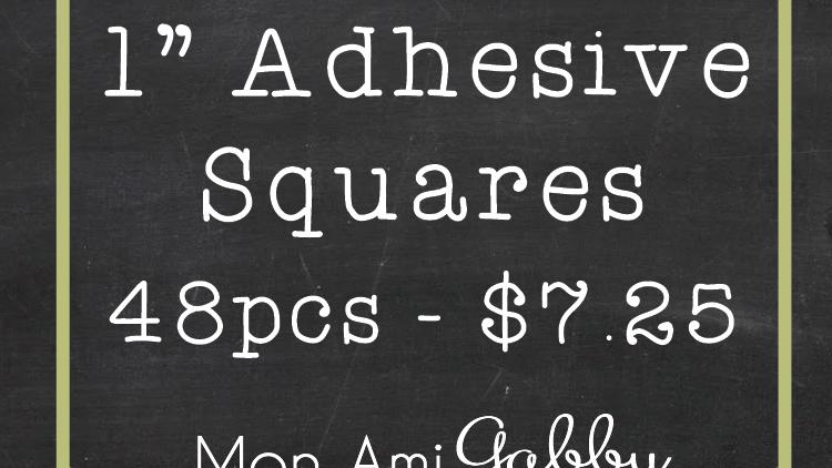 "Adhesive 1"" -Squares"