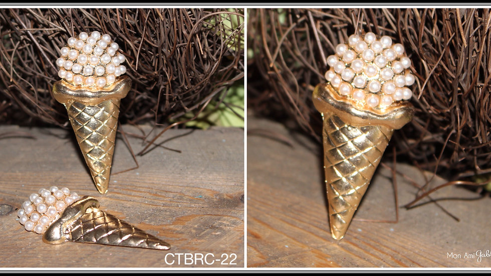 Ice Cream Cone Brooch