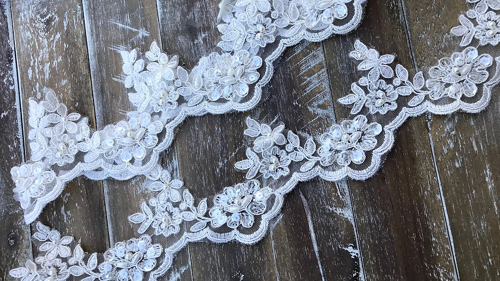 Lace Embroidered Trim