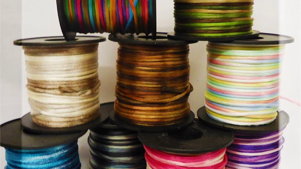 Variegated Assorted Satin Cord