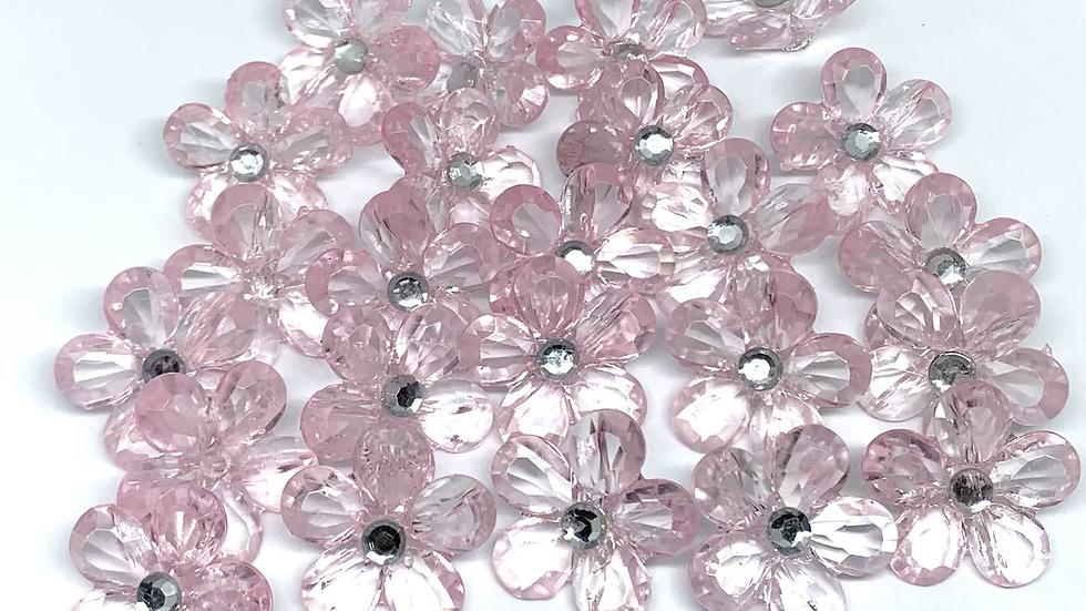 Crystal Pink Flowers