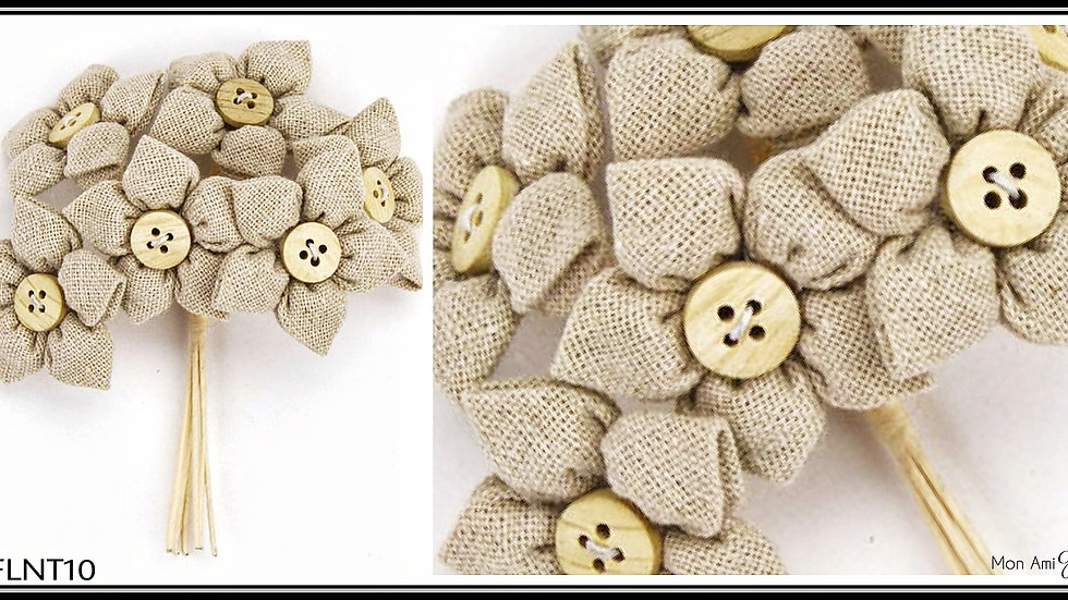 Burlap Linen Flower Bunch