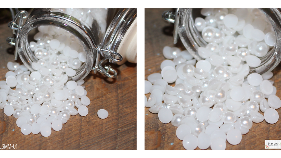 6MM Pearls Flat Back
