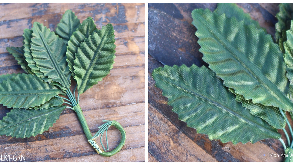 """Embossed Satin Leaf 5/8"""""""
