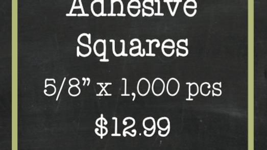 Adhesive Squares Extreme Tac