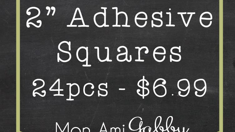 "2"" Adhesive Squares"