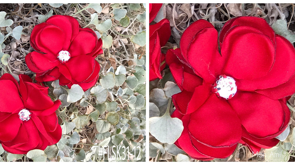 Satin Flower Red