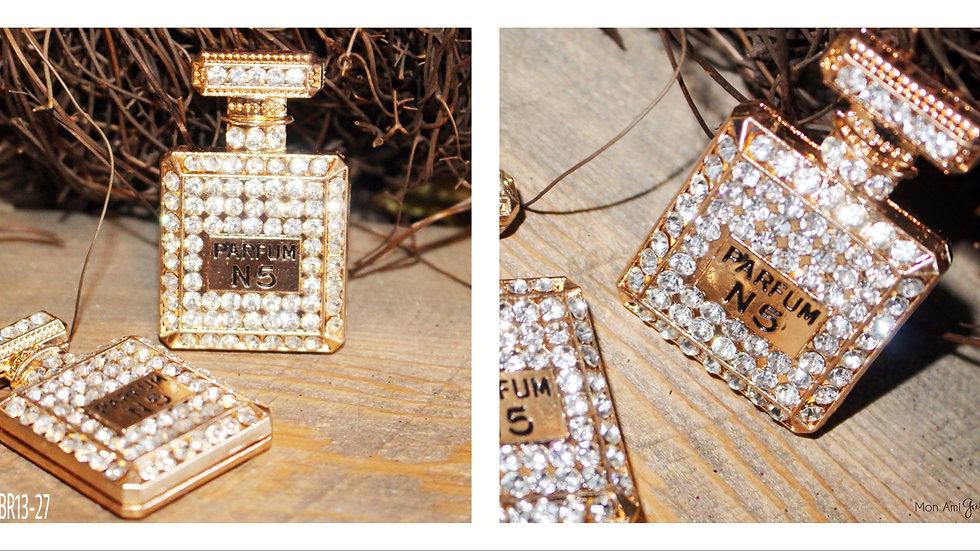 Perfume Bottle Brooch