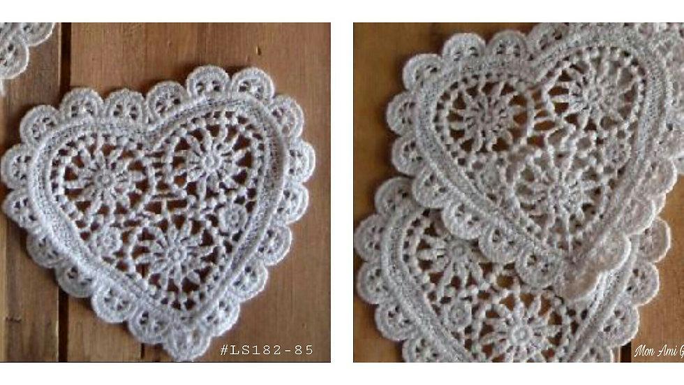Crochet Heart Doily