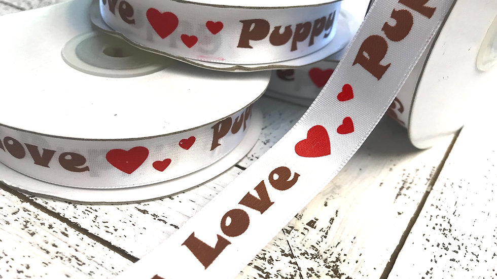 Puppy Love Satin Ribbon