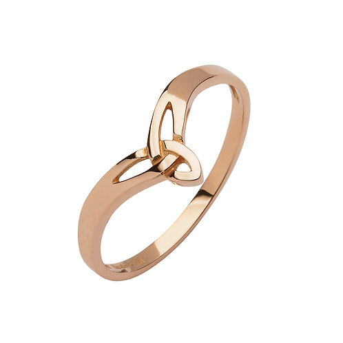 10K Yellow or Rose Gold Petite Trinity Ring