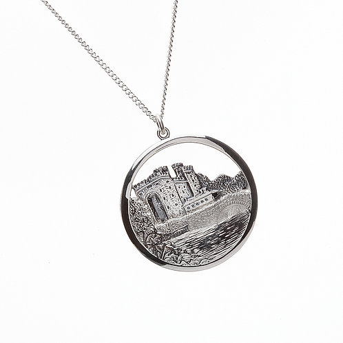 Sterling Silver Bunratty Castle Pendant