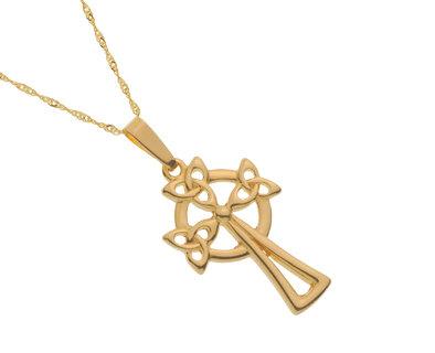 10k Gold Trinity Knot Cross