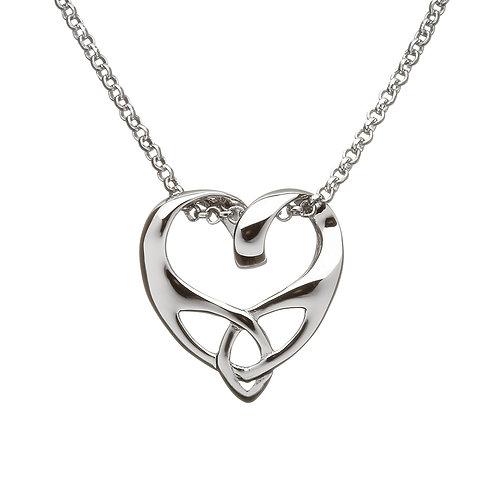 Sterling Silver Trinity Heart Pendant
